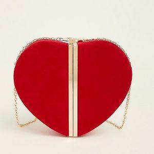Torrid Faux Suede Red Heart Clutch ❤
